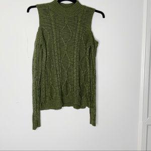 FRESHMAN 1996 cold shoulder sweater top. SZ S